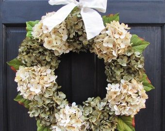 Year Round Wreath, Front Door Wreath, Hydrangea Wreath, Everyday Wreath, Seasonal Wreath, Front Door Decoration, All Season Wreath for Door