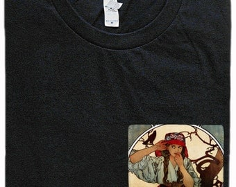 Alphonse Mucha Pocket Shirt