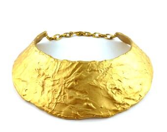BICHE DE BERE Paris * Gorgeous vintage brutalist collar necklace