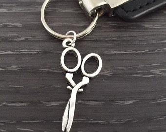 Scissors Keychain, Hair Stylist Keychain, Hairdresser Silver Shears Jewelry, Seamstress Keyring, Custom Keychain, Cosmetologist Cool Gift