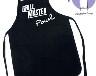 Personalized Grill Aprons Fathers Day Grilling apron Kitchen Apron mens apron personalized apron Grill Master Gift Idea gifts for him