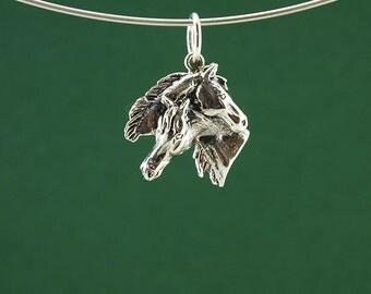Mare & Foal pendant in 925 Sterling Silver