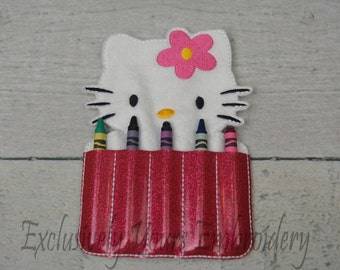 Happy Kitty Crayon Holder, Toddler Arts and Crafts, Back To School, Travel Case
