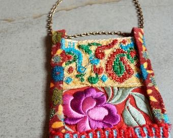 Ethnic Pom Pom Silks Necklace