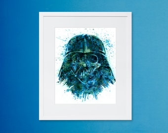 Star Wars Art - Darth Vader Water Color Print - Star Wars - Instant Download - Digital Print - Wall Art print - Star Wars Digital Download