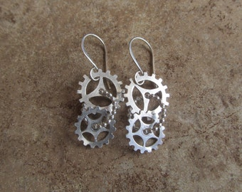 silver gearrings