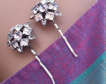 Bobby Pin Set Vintage Rhinestone Hair Pins Hair Accessory
