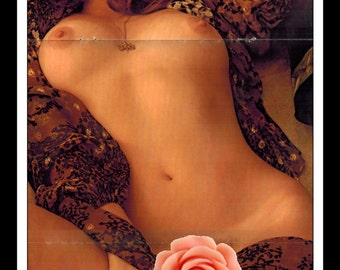 "Mature Playboy November 1974 : Playmate Centerfold Bebe Buell Gatefold 3 Page Spread Photo Wall Art Decor 11"" x 23"""