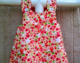 Baby Pinafore Dress, Baby Summer Dress, Baby Beach Dress, Girls Dresses Size 6-12 months, Toddler Dress, Toddler Girl Clothes