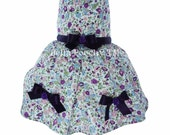 Purple 100% Floral Summer Dress for Dogs by Bella Poochy TM