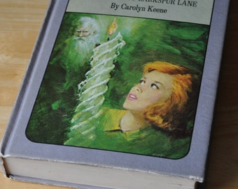 Vintage Nancy Drew Mystery Novel - The Sign of the Twisted Candle and Password to Larkspur Lane