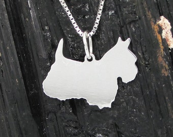 West Highland Terrier Sterling Silver Pendant