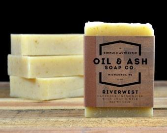 Lavender Chamomile Goat's Milk Soap, Handmade Soap, All Natural Soap, Cold Process Soap, Essential Oil Soap