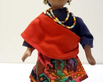 African woman doll