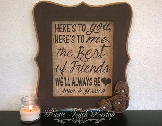 Best Wedding Gift Ideas For Best Friend: Best Friend Wedding Gift Best Friend By RusticTouchBurlap