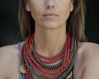 Coins Masai necklace