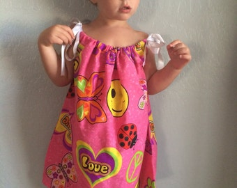 Toddler Bandana Dress, Toddler Dress - Groovy Summer