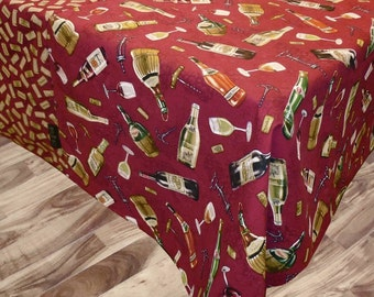 "Tablecloth ""Wine and cheese"" by Collection."