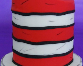 Dr. Seuss Cat and the Hat Cake Topper (100 % Edible)