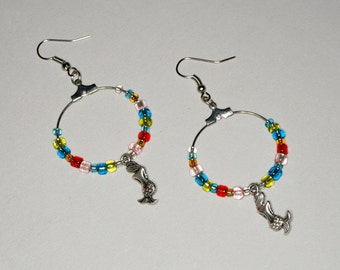 Mermaid Multicolour Hoop Earring // The Take to the Sea Statement
