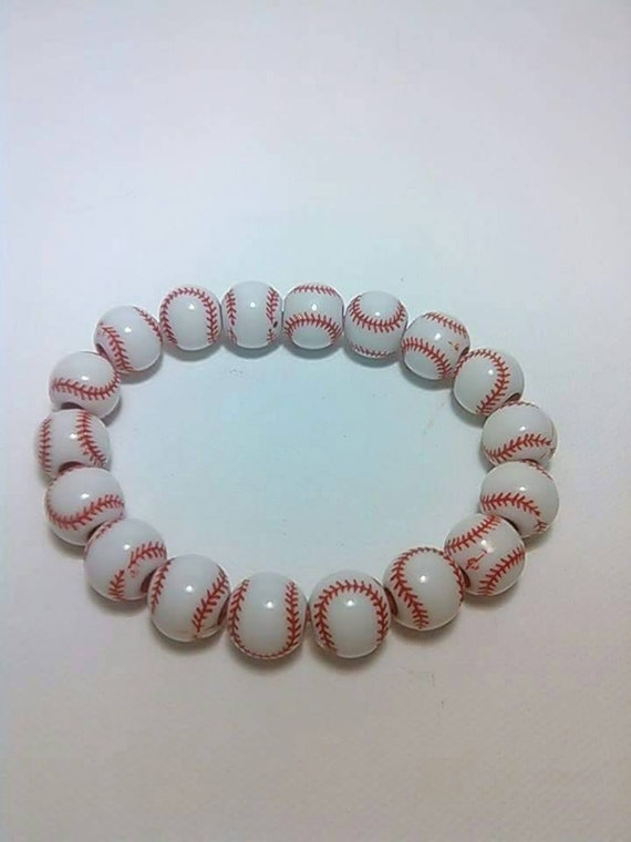 baseball bracelet sports bracelet stretch bracelet sports