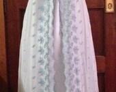 Regency Jane Austen Empire Lace Ballgown Evening Prom Wedding Dress