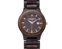 Ambici Men's Wooden Watch- The Classic Black