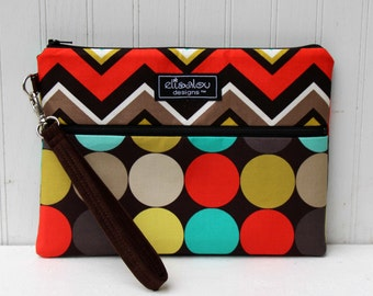 Disco Clementine Kindle / iPad Mini /  Nook / eReader / Padded Pouch / Wristlet / Bag