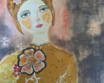 Marmalade. Orginal MixedMedia Art