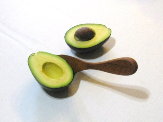 items similar to avocado spoon wooden utensil on etsy