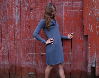 Oak Tunic ~ Long Sleeve, Cowl ~ Bamboo & Organic Cotton ~ Made to Order