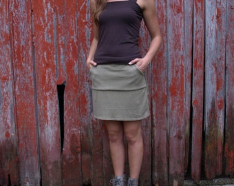 Organic Cotton & Hemp Pocket Skirt