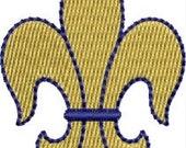 Mini Fleur de lis embroidery designs 4 sizes
