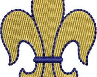Mini Fleur de lis embroidery designs 4 sizes