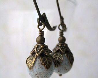 Blue Bird Egg Earrings