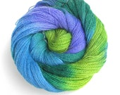 Alpaca Yarn Hand Dyed Baby Alpaca Lace Yarn Free Shipping in USA - Blue Ivy