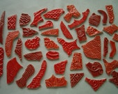 41RM - REDS Selection Huge 41 pc GRAFFITI Tiles - Ceramic Mosaic Tiles