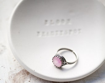 Peony ring - Flowers petal jewelry - Silver ring - Bloom collection by BeautySpot (R069)