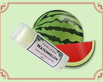SALE - WATERMELON Lip Balm made with Shea Butter - .15oz Oval Tube