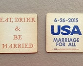 Marriage for All / Eat Drink & Be Married coaster