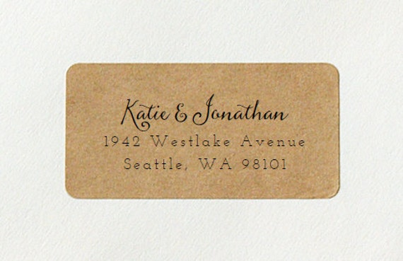 Custom Printed Return Address Labels Design 15 Calligraphy