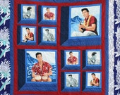 "Elvis, Blue Hawaii Quilt, 60"" X 84"""