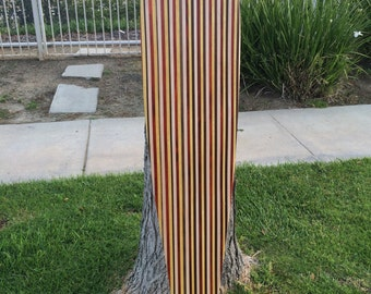 "Amazing Solid Wood Longboard Custom Made - ""Coogee"" 4 types of wood stringers"