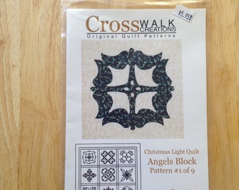 Christmas Light Quilt by Cross Walk Creations - Pattern #1 of 9 - Angels Block