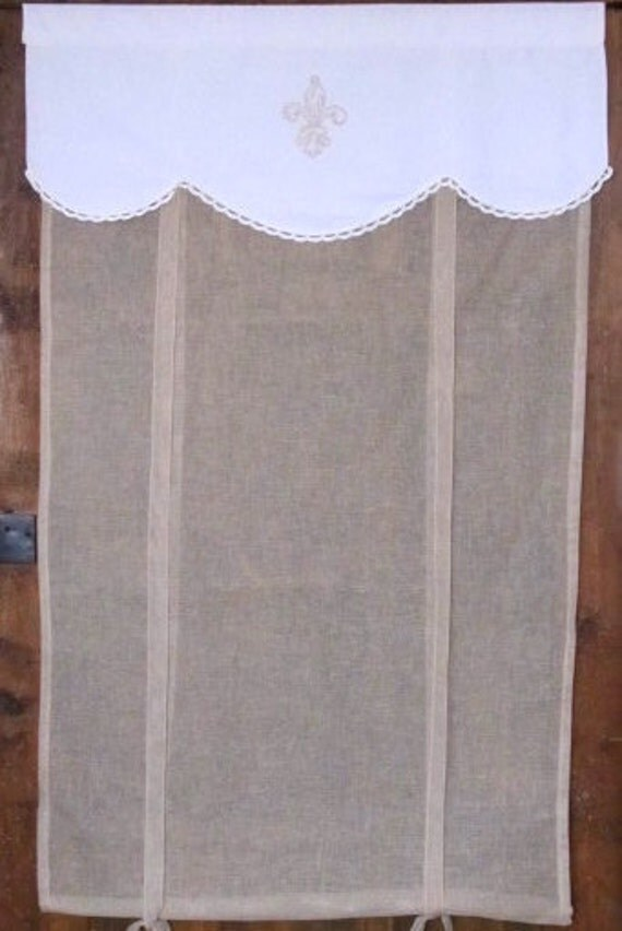 Fleur De Lis French Linen Window Curtain 76 By Linenandletters