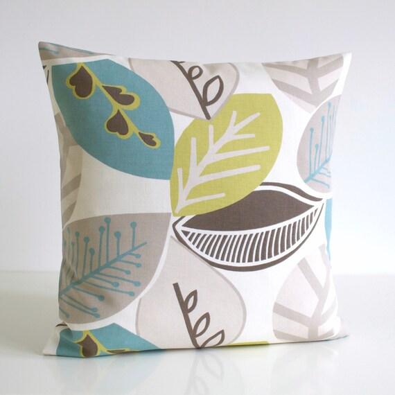 Green Cushion Cover, 16 Inch Pillow Sham, 16x16 Pillow Cover, Decorative Throw Pillow Cover, Pillow Case, Cushion - Nordic Fall Pistachio