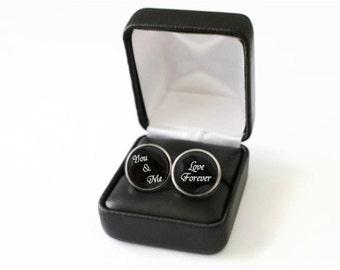 Love Forever Cufflinks, Anniversary Gift, Gift For Groom from Bride, Gift Ideas for Groom Accessories, Groom Cufflinks, Groom Wedding Gift