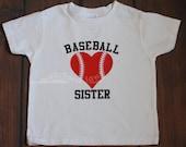 Baseball Sister Base ball Family T Shirt