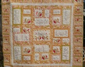 Tailfeathers Large Cot or Child's Quilt in Patisserie Fabrics