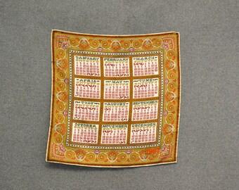 1967 Silk Calendar Scarf